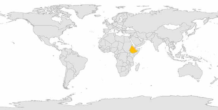 Etiopia, Africa - Viajes de Aventura y Viajes Alternativos y de Turismo Responsable, Mochilero, Grupo, Solo - 3000KM - Mapamundi