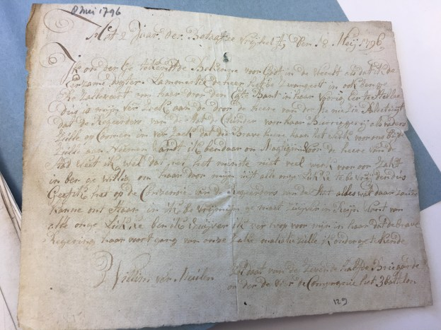 Bekentenis Willem Vermeulen 8 mei 1796