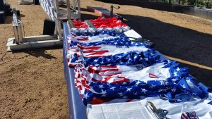 The winner jerseys and medals to be handed out at the 2016 USA Cycling Hill Climb National Championships on Pikes Peak.