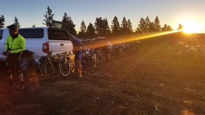 Sunrise at the USA Cycling 2016 Hill Climb National Championships on Pikes Peak