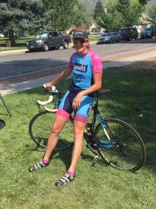 Jillian Bearden in her Naked Race kit