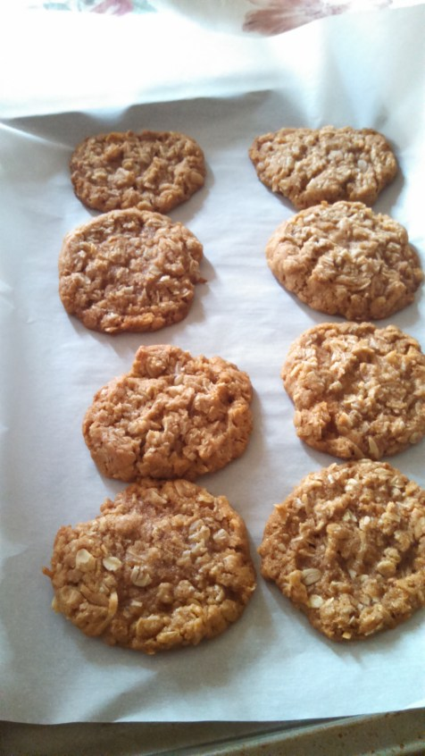 Sheet of ANZAC Cookies