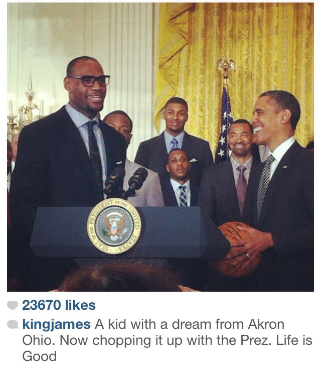 lebron and president