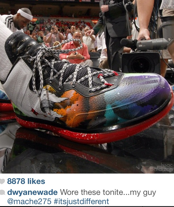 Gear: Mache Customs + Dwyane Wade = Impressive Kicks