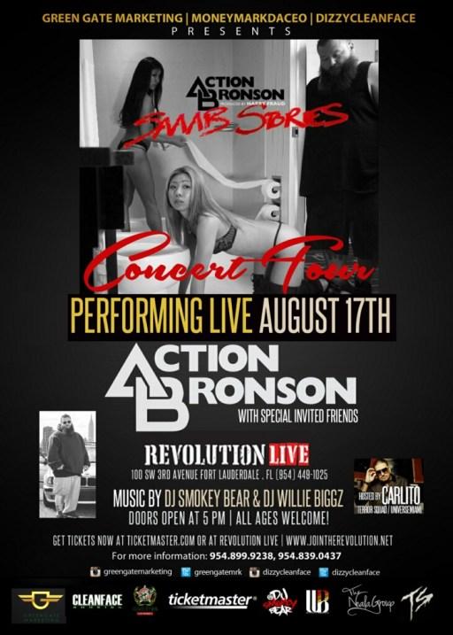 Action Bronson 8.17.13 flyer
