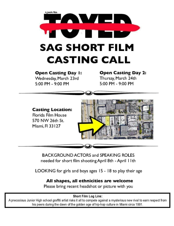 Cating Call for Short Film: Toyed