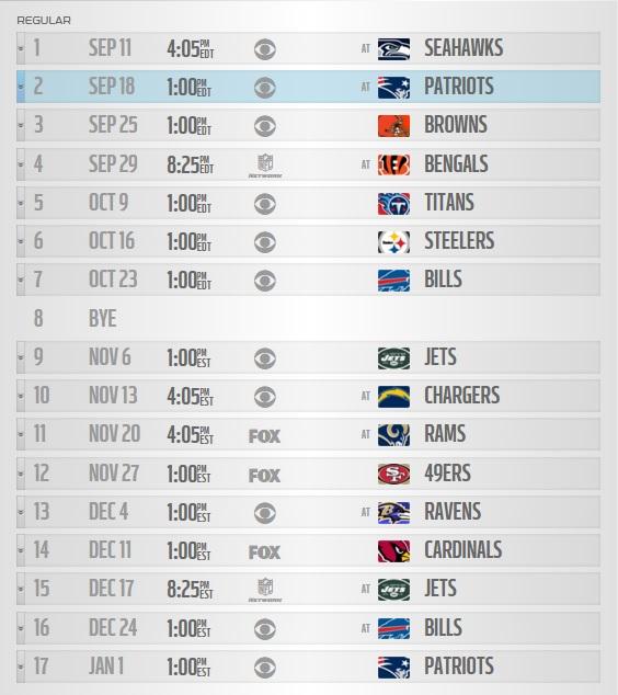 Dolphins 2016-2017 Schedule