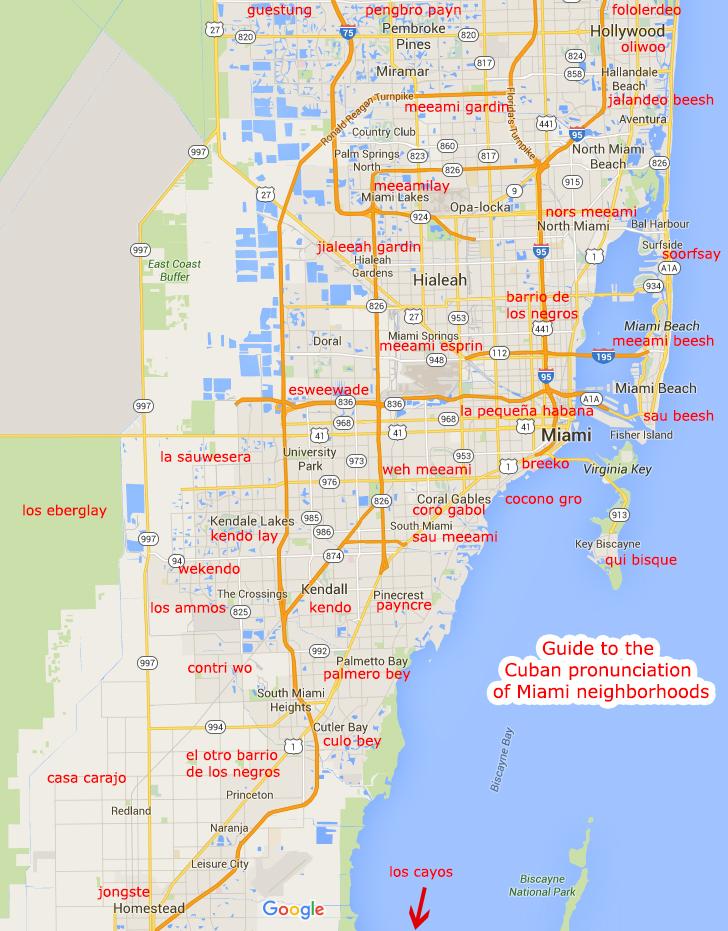 how to pronounce miami neighborhoods in spanish had to