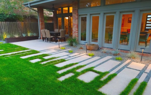 clean modern landscaping project
