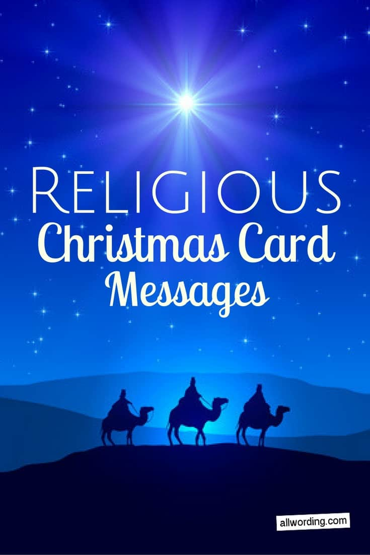 25 Religious Christmas Card Messages