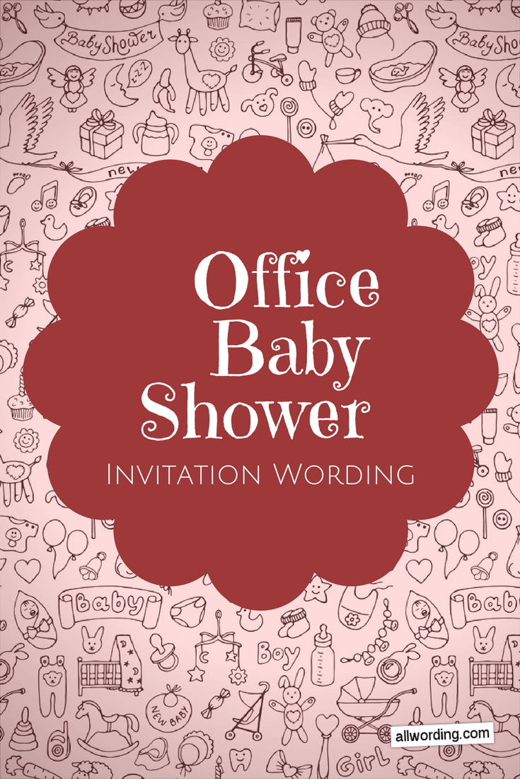 Office Baby Shower Invitation Wording  AllWordingcom