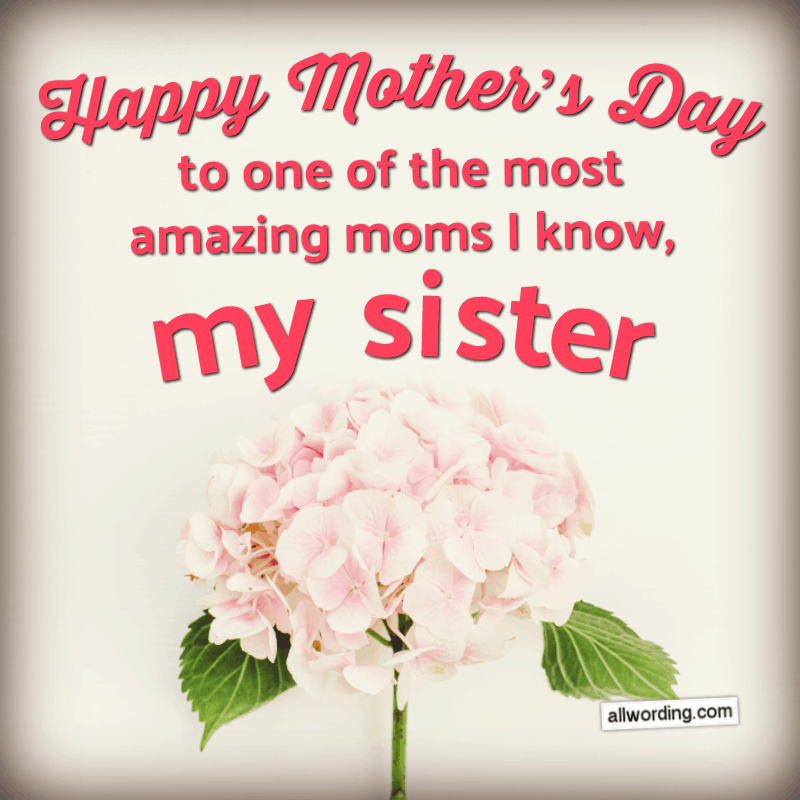 30 Ways To Say Happy Mother S Day To Your Sister Allwording Com