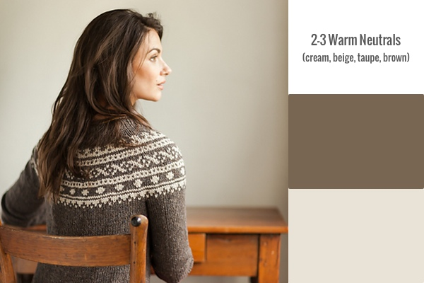 2-3 Warm Neutrals Pattern: Sundottir by Dianna Walla