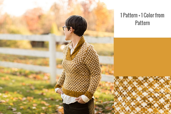 1 Pattern + 1 Color Pattern: Aunt Fred by Pamela Wynne