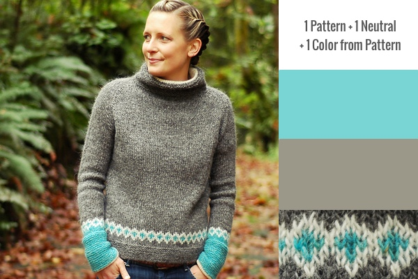 1 Pattern + 1 Neutral + 1 Color Pattern: Moon Pulls by Dianna Walla