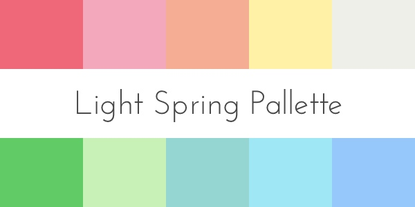 color analysis light spring palette