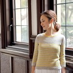simple striped sweaters, pattern, knitting, womens