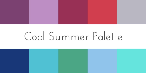 color analysis cool summer palette