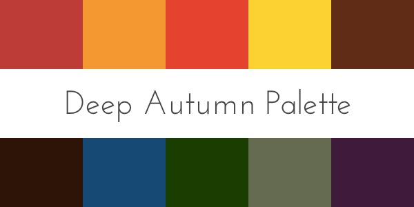 deep autumn color palette