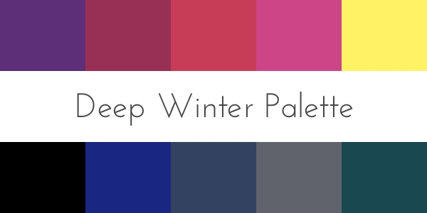 deep winter color analysis palette