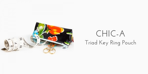 Chic-a key ring pouch organization