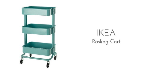 ikea raskog cart organization
