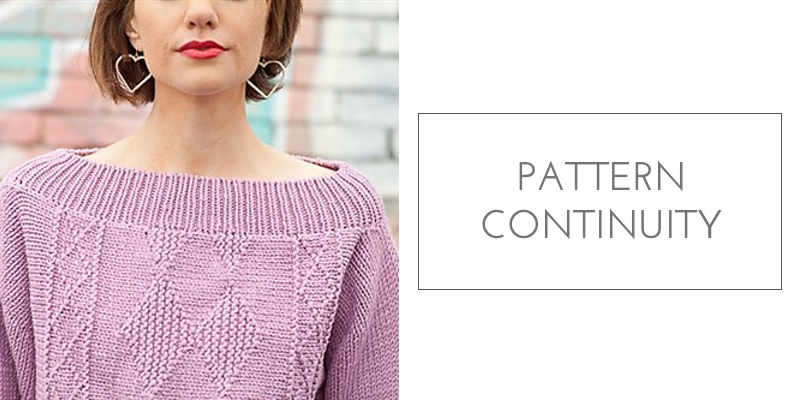 sideways sweater construction pattern continuity