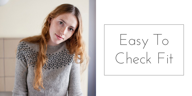 yoked sweater easy to check fit