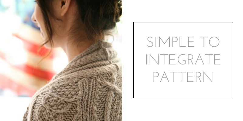 raglan construction simple to integrate pattern