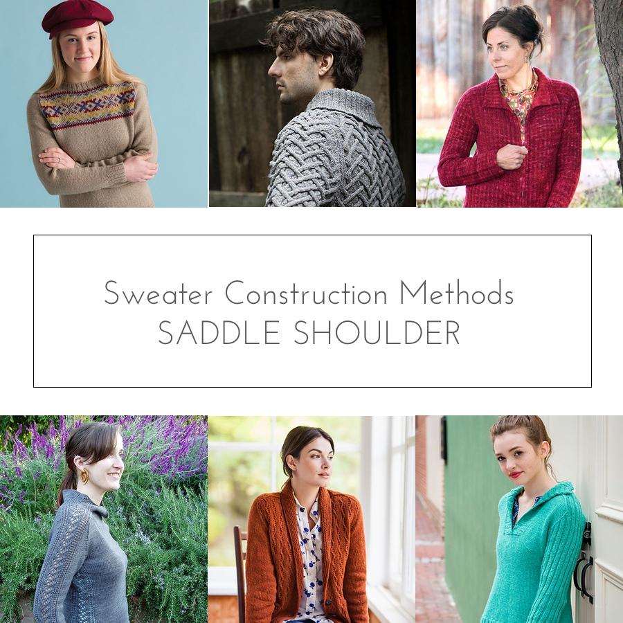 sweater construction saddle shoulder