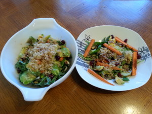 Mommy & daughter salads