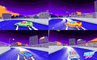 Four player split screen racing and drifing! It got better! Squee!
