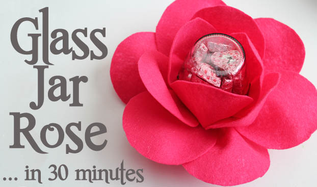 glass jar rose in less than 30 minutes