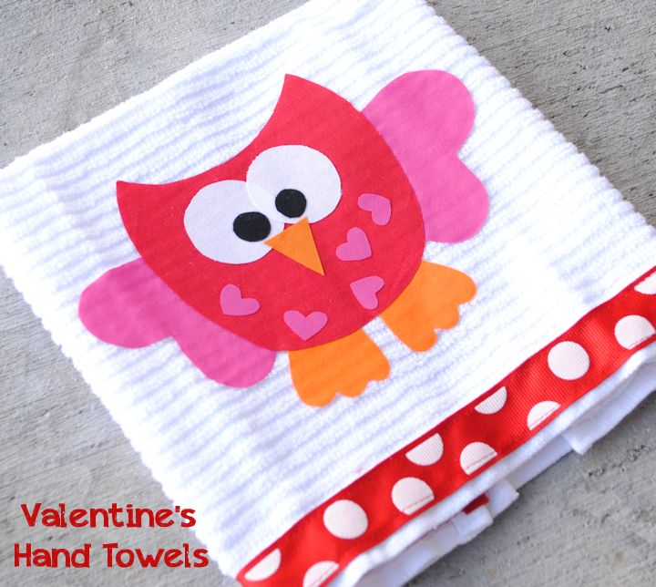 No Sew Valentines Day Owl Tea Towels 30 Minute Crafts
