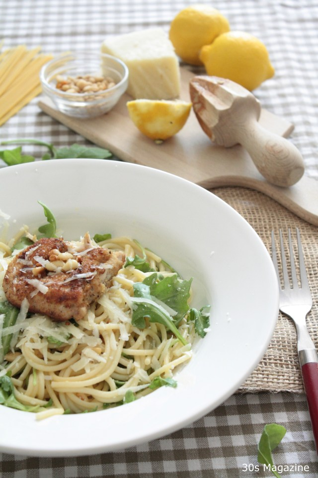 Lemon-Butter Spaghetti with Chicken Parmesan