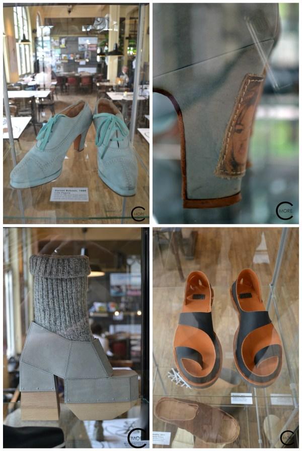 clockwise: Lola Pagola' s corset shoes with Brigitte Bardot on the heel, Anna Korshun, Miriam van Weeghei