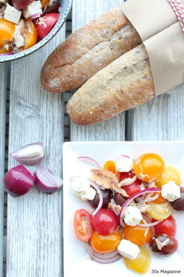 tomato mackarel salad