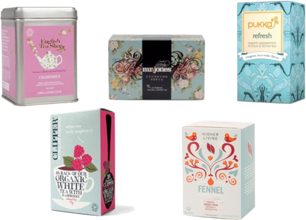 organic tea boxes