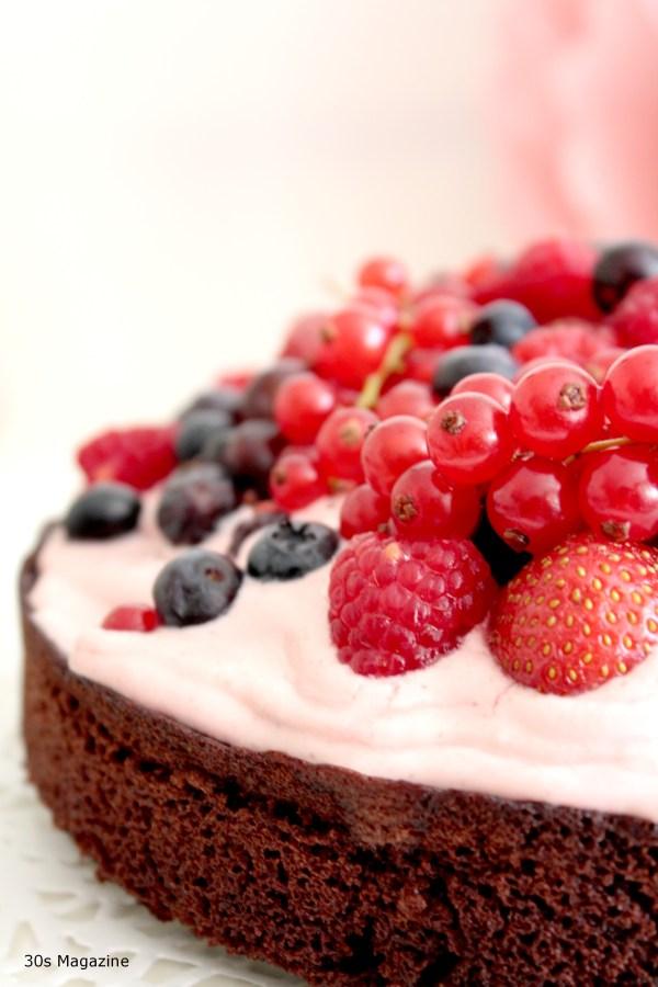 red fruit cake