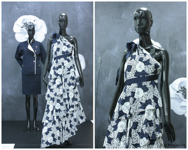30s Magazine - Chanel exhibition blue and white
