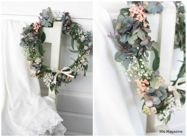 DIY flower wreath