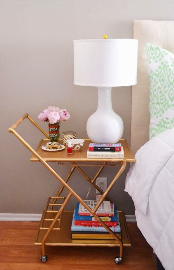 bar cart bedroom