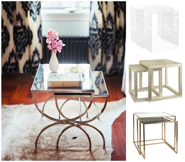 chic nesting tables