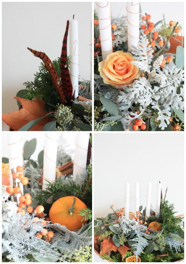 advent floral piece