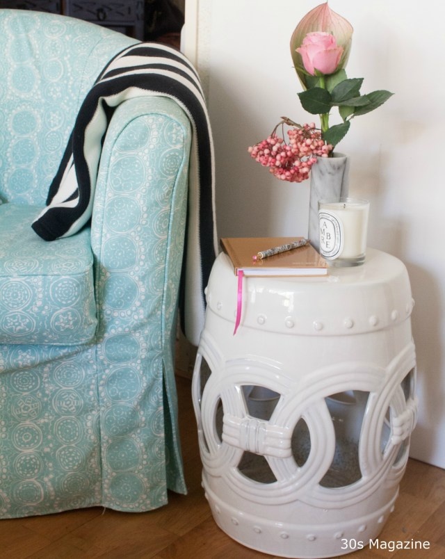 Glamourous interior pieces: ceramic garden stool