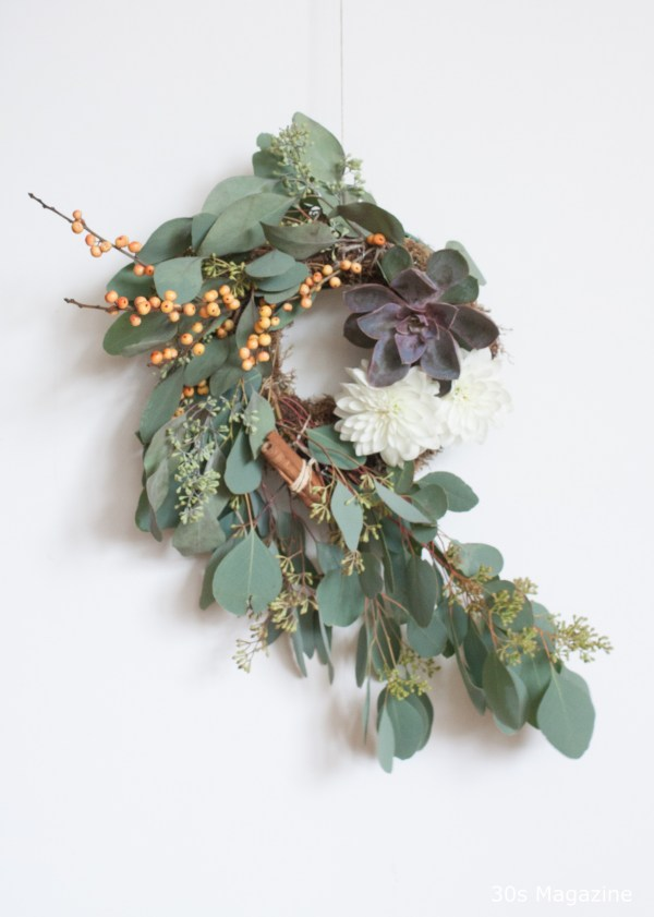 Thanksgiving wreath by 30s Magazine
