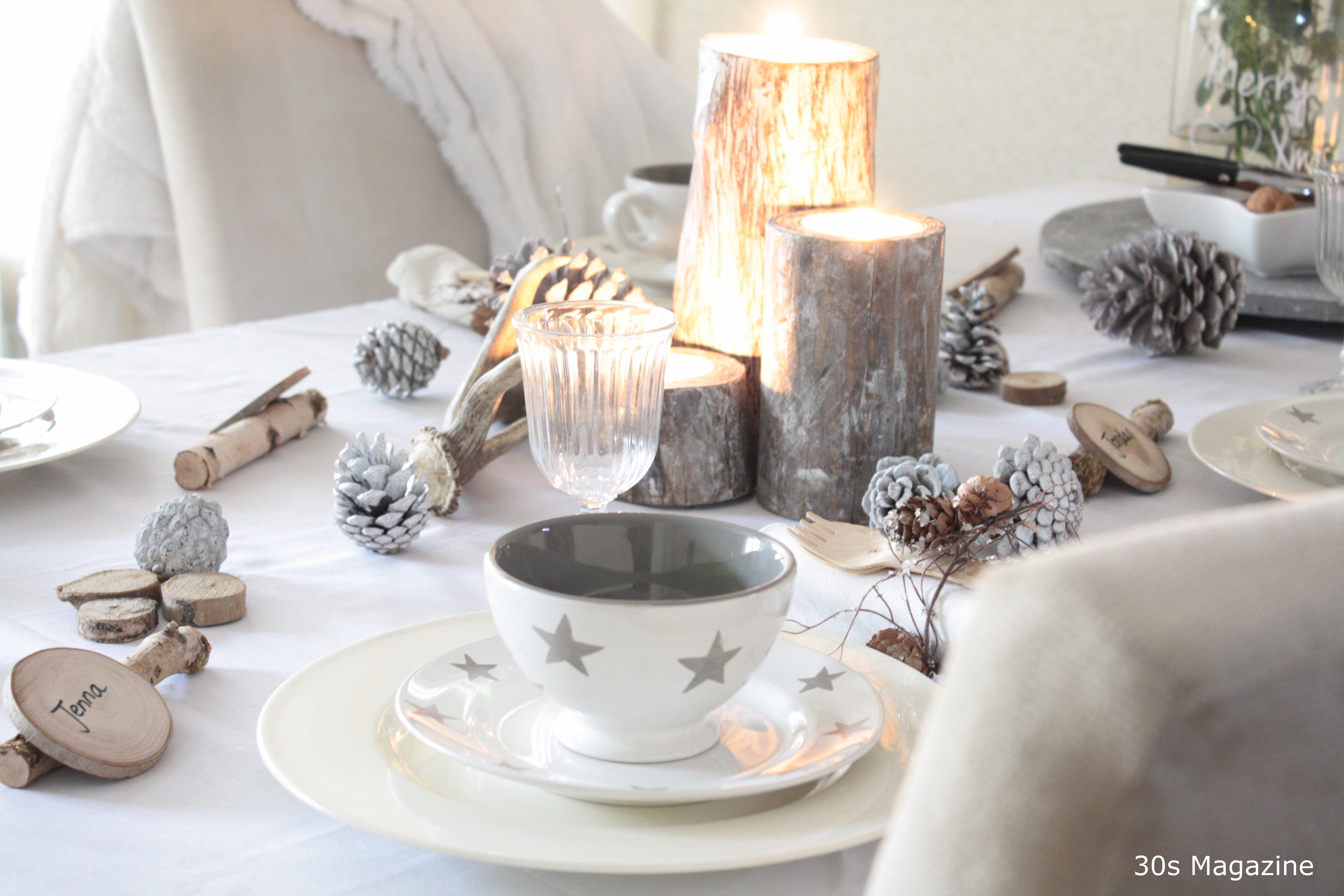 A Rustic-chic Christmas Table Setting – 30s Magazine