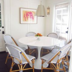 French Rattan Bistro Chairs Orange Office Chair Cafe Parisian Trend 30s Magazine