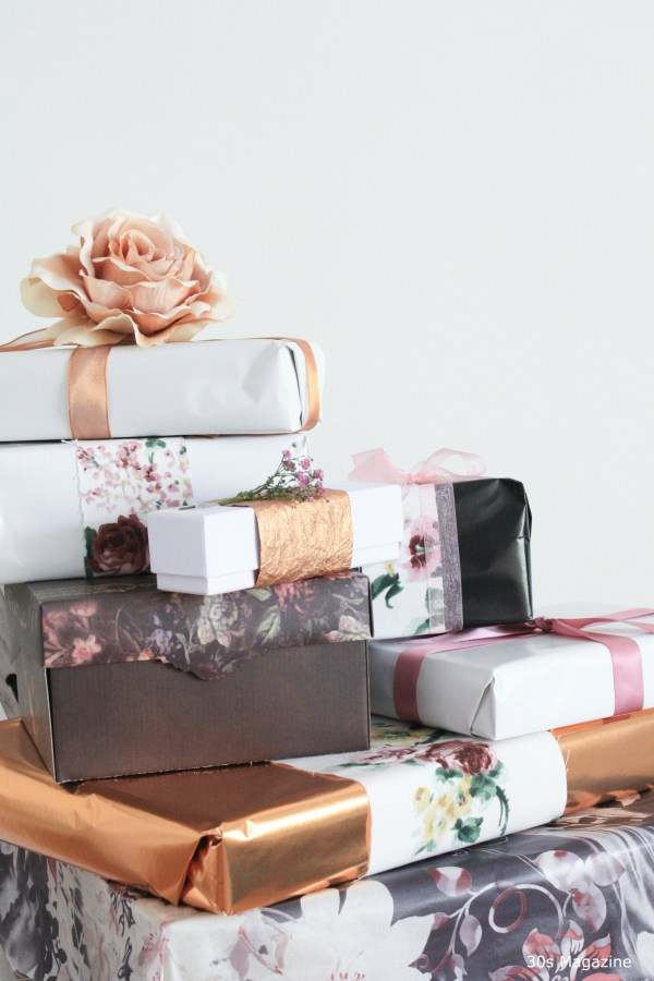 gift wrapping with flowers - 30s Magazine