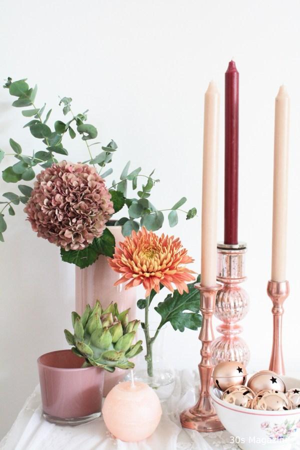 rose copper christmas decor
